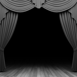 Download Black And White Curtain Background Clipart Theater Drapes Stage Curtains Front