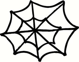 Download spider web template printable clipart Spider web Coloring book