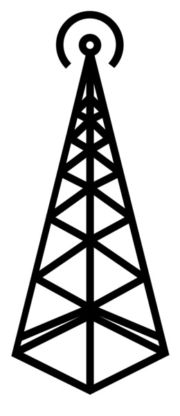 Free Download Cell Site Mobile Phones Tower Wireless Drawing