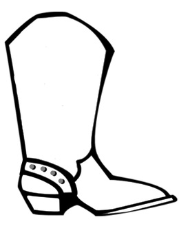 Download Cowboy Boot Coloring Page Clipart Coloring Book Cowboy Boot