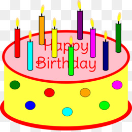 Birthday Cake With Candles Clipart Clip Art
