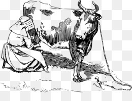 lady milking png clipart Milk Holstein Friesian cattle Dairy cattle