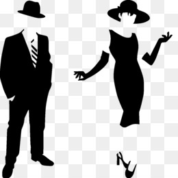 formal man and woman silhouette clipart Silhouette Wall decal Clip art