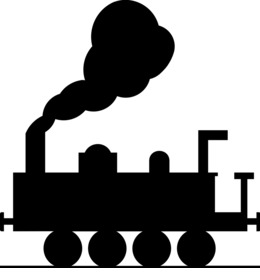 Thomas The Train Black And White Clipart