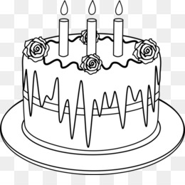 Outline Images Of Cake Clipart Birthday Clip Art