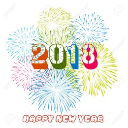 happy new year 2018 clipart new year fireworks clip art