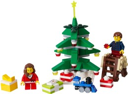Download lego decorating the tree clipart Lego minifigure