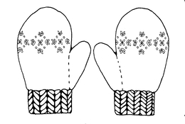 Download Mittens Coloring Page Clipart The Mitten Book