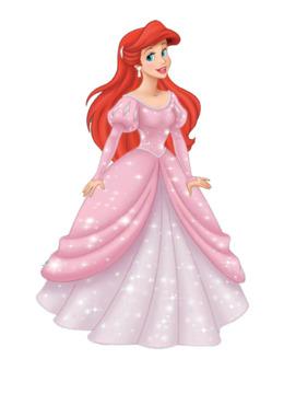 download disney princess ariel pink dress clipart ariel disney