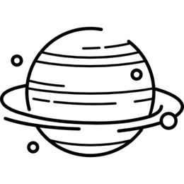 Planet white. Black and clipart clip