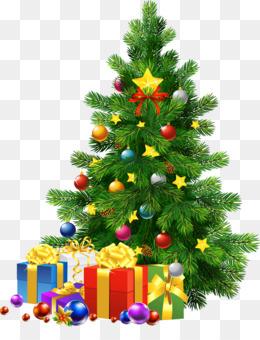 transparent christmas gifts clipart Santa Claus Christmas tree Clip art