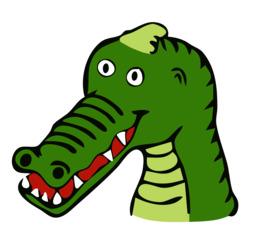 动画鳄鱼剪纸艺术鳄鱼鳄鱼爬行动物