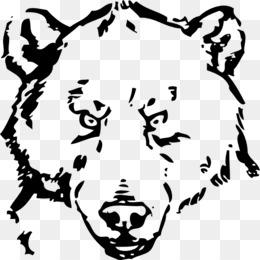 bear face black and white clipart American black bear Polar bear