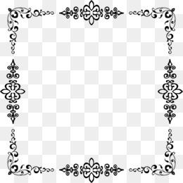 transparent black border elegant clipart Picture Frames Clip art