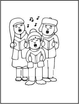 download christmas carolers coloring page clipart a christmas carol colouring pages coloring book