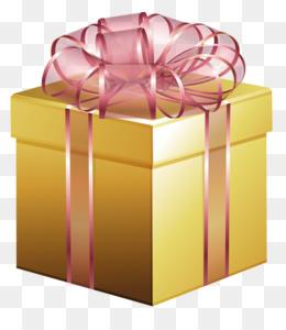 golden gift box png clipart Gift Clip art