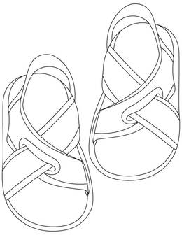 Download Sandals Coloring Page Clipart Colouring Pages Book Flip Flops