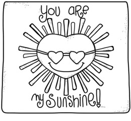 Download You Are My Sunshine Coloring Pages Clipart Book Adult