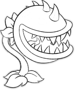 Download Plants Vs Zombies Chomper Coloring Pages Clipart Garden Warfare 2