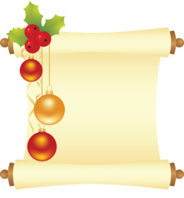 свиток новый год clipart Paper Christmas Day Scroll