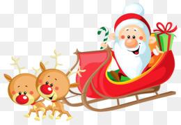 雪橇上的圣诞老人剪辑