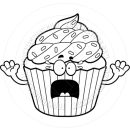 Download Black And White Cartoon Cupcakes Clipart Delicious Cupcakes