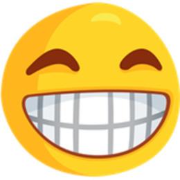 与牙齿微笑emoji剪纸艺术表情符号emoji Facebook Messenger