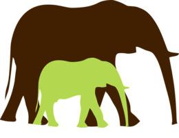 elephant silhouette svg clipart African elephant Elephants Clip art