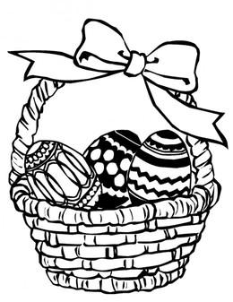 Download Easter Egg Basket Drawing Clipart Easter Bunny Easter Basket Easter Egg