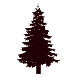 松树轮廓图冷杉剪贴画