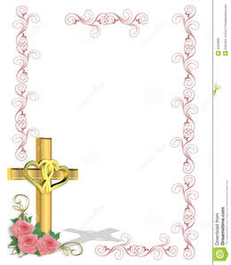 religion wedding party flower pink text cross line pattern