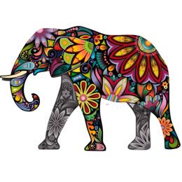 elephant coloré clipart Elephants Wall decal
