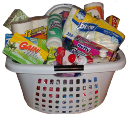 download gift basket new homeowner clipart housewarming party food