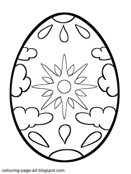 Cracked Egg Color Page Clipart