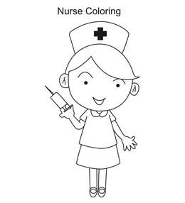 Download coloring page nurse clipart Coloring book Nursing Colouring ...