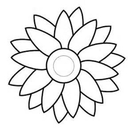 Download Simple Flower Coloring Pages Clipart Book Colouring