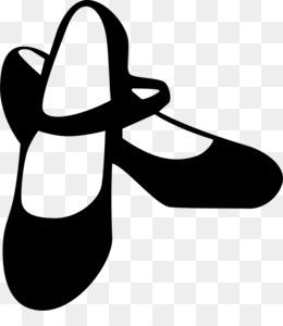 舞鞋轮廓图芭蕾舞鞋跳舞剪贴画