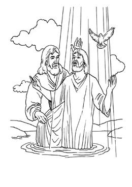 Download jesus baptism coloring page clipart Baptism of Jesus ...