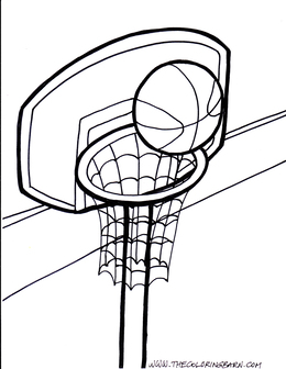 Download Basketball Hoop Coloring Pages Clipart Coloring Book