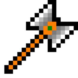斧的像素艺术剪纸艺术像素Minecraft斧头