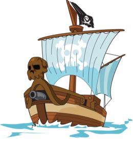 贴纸海盗和配件剪辑海盗剪辑艺术