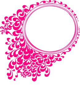 椭圆形粉色框架剪辑边框和框架图片框架剪辑艺术