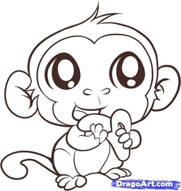 Download Cute Monkey Coloring Pages Clipart Book Colouring