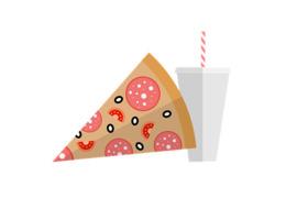 快餐剪纸艺术垃圾食品快餐披萨