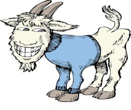 有趣的山羊剪纸艺术山羊剪贴画