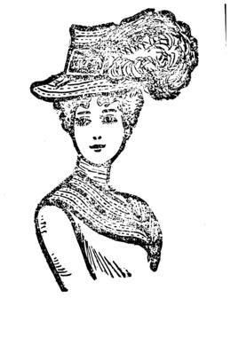 剪纸艺术的女人的女人的帽子剪辑艺术