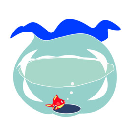 海豚剪纸艺术金鱼水族馆剪贴画