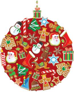 圣诞饼干剪辑圣诞装饰圣诞树剪辑艺术