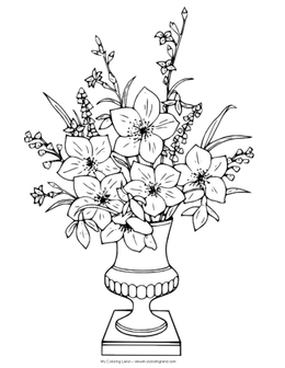 Download flower vase drawing with colour clipart Drawing How to Draw on floral to draw, roses to draw, bowl to draw, frame to draw, animals to draw,
