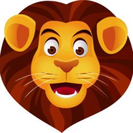 狮子的脸剪纸艺术狮子剪贴画